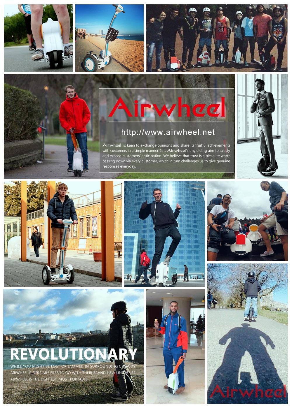 Airwheel uno auto-equilibrio Scooters y Monociclos a estar presentes en Budapest CONSTRUMA